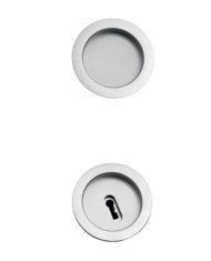 Kit chiudiscrigno satinovany chrom – dveře Scrigno