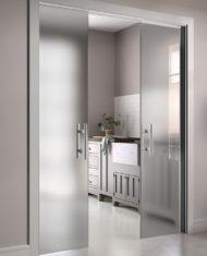 Stech – skleněné posuvné dveře